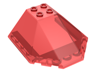 LEGO Windscreen 6 x 6 x 2 Canopy [Trans-Red] [87606]