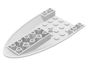 LEGO Aircraft Fuselage Curved Forward 6 x 10 Bottom with 3 Holes [White] [87611]