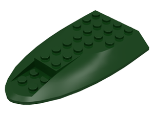 LEGO Aircraft Fuselage Curved Aft Section 6 x 10 Top [Dark Green] [87615]