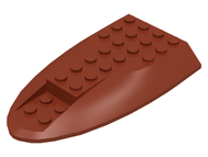 LEGO Aircraft Fuselage Curved Aft Section 6 x 10 Top [Reddish Brown] [87615]