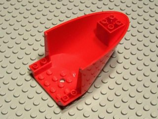 LEGO Aircraft Fuselage Curved Aft Section 6 x 10 Bottom [Red] [87616]