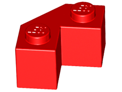 LEGO Brick, Modified Facet 2 x 2 [Red] [87620]