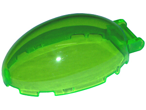 LEGO Windscreen 6 x 4 x 2 1/3 Bubble Canopy with Handle [Trans-Bright Green] [87752]