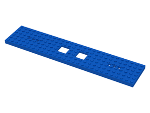 LEGO Train Base 6 x 28 with 2 Square Cutouts and 3 Round Holes Each End [Blue] [92339]
