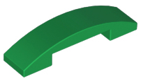 LEGO Slope, Curved 4 x 1 Double No Studs [Green] [93273]