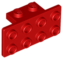 LEGO Bracket 1 x 2 - 2 x 4 [Red] [93274]