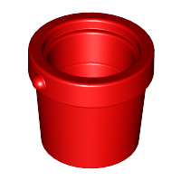 LEGO Container, Bucket 1 x 1 x 1 [Red] [95343]