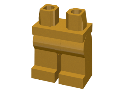 LEGO Hips and Legs [Pearl Gold] [970c00]