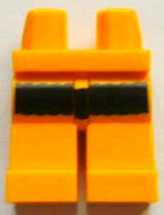 LEGO Hips and Legs with Black Thick Stripe Pattern [Bright Light Orange] [970c00pb243]