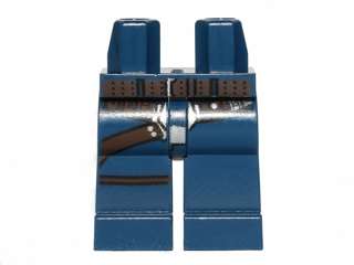 LEGO Hips and Legs with SW Gunbelt, Belt on Hips Pattern (Han Solo) [Dark Blue] [970c00pb288]