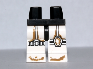 LEGO Hips and White Legs with SW Stormtrooper Dirt Stains Pattern [Black] [970c01pb06]