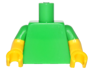 LEGO Torso Plain / Yellow Arms with Bright Green Short Sleeves Pattern / Yellow Hands [Bright Green] [973c76]