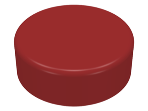LEGO Tile, Round 1 x 1 [Dark Red] [98138]