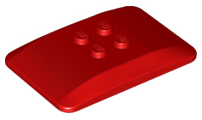 LEGO Wedge 6 x 4 x 2/3 Quad Curved [Red] [98281]