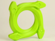 LEGO Ring 4 x 4 with 2 x 2 Hole and 4 Snake Head Ends (Ninjago Spinner Crown) [Lime] [98342]