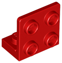 LEGO Bracket 1 x 2 - 2 x 2 Inverted [Red] [99207]