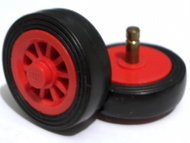 LEGO Wheel Spoked 2 x 2 with Stud, with Black Tire Smooth Old Style - Small (bb19 / 132old) [Red] [bb19c01]