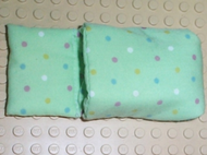 LEGO Belville Cloth Pouch, Child with Dots Pattern [Light Green] [pouch03]