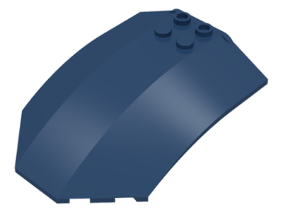 LEGO Windscreen 8 x 6 x 2 Curved [Dark Blue] [x224]