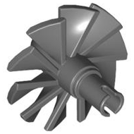 LEGO Engine, Large, Center, 10 Blades [Dark Bluish Gray] [x577]