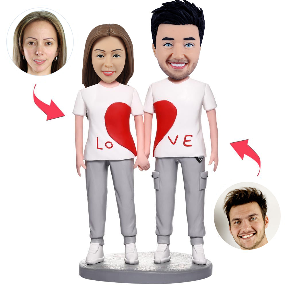 Heart Couple Bobblehead Craft - BobbleGifts