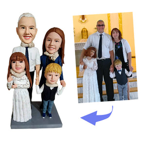 Fully Customized Bobblehead - 4 Persons - BobbleGifts