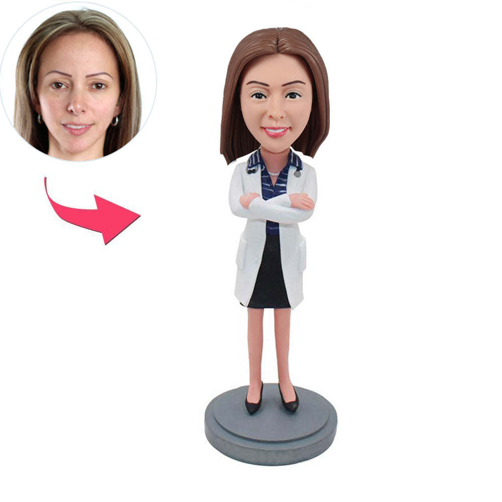 Female Doctor Bobblehead Doll - BobbleGifts
