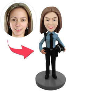 Custom Female Cop Bobblehead Figures - BobbleGifts