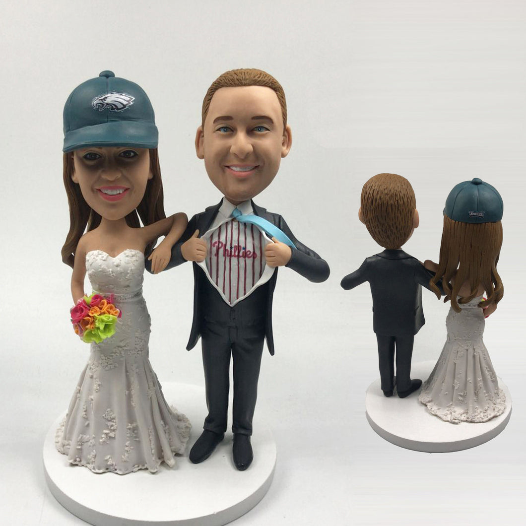 Funny Wedding Cake Toppers Bobbleheads Custom Made