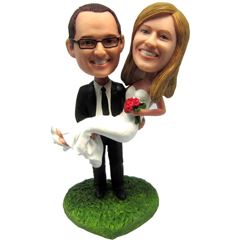 Custom Unique Wedding Couple Bobblehead