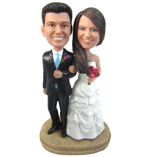 Personalized Custom Bride and Groom Bobbleheads