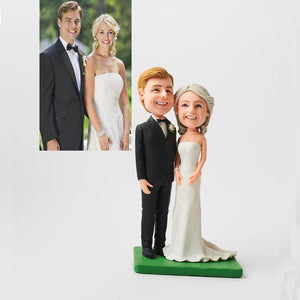 Head to Toe Custom Wedding Couple Bobbleheads Gift