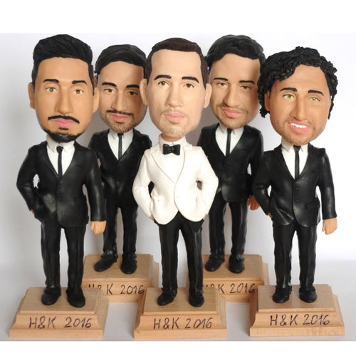Custom Groomsmen Bobble Head Wedding Gift Ideas