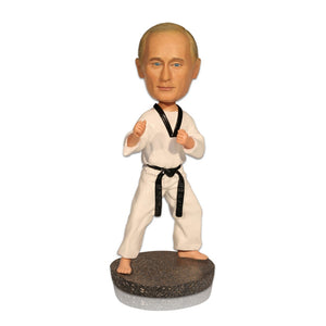 Custom Sports Bobbleheads for Sale - Taekwondo Athlete - BobbleGifts