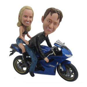 Custom Couple & Motorcycle Bobbleheads - BobbleGifts