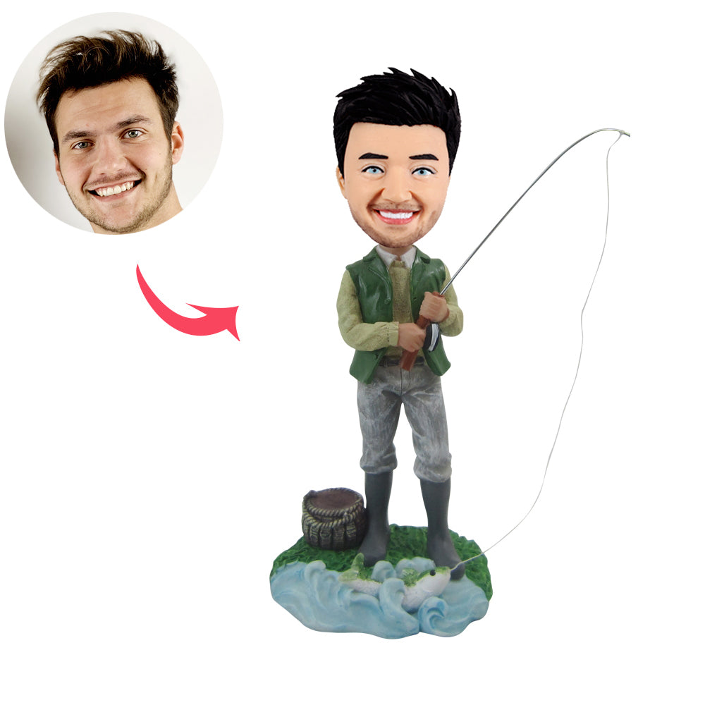 Custom Fishing Man Bobblehead Doll - BobbleGifts