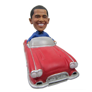 Custom Obama Bobblehead Doll with Vehicle