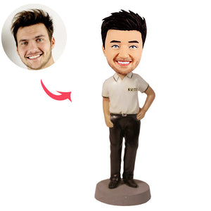 Custom Casual Man Bobblehead - BobbleGifts