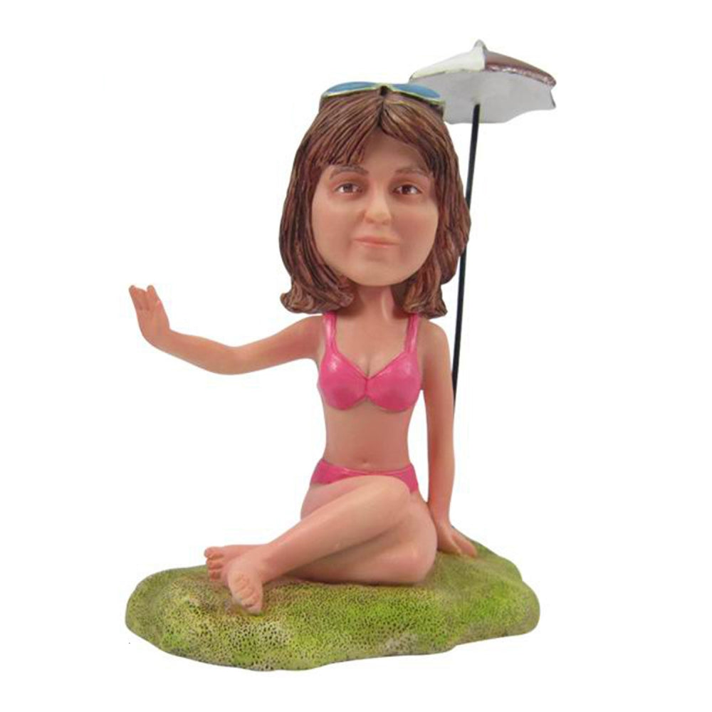Custom Beach Holiday Bobble Head - BobbleGifts