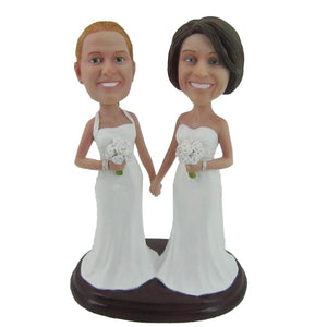 Custom Wedding Bridesmaid Bobbleheads Doll
