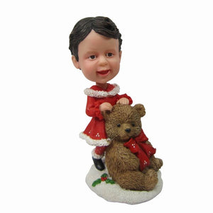 Custom Kids Christmas Bobbleheads Gifts