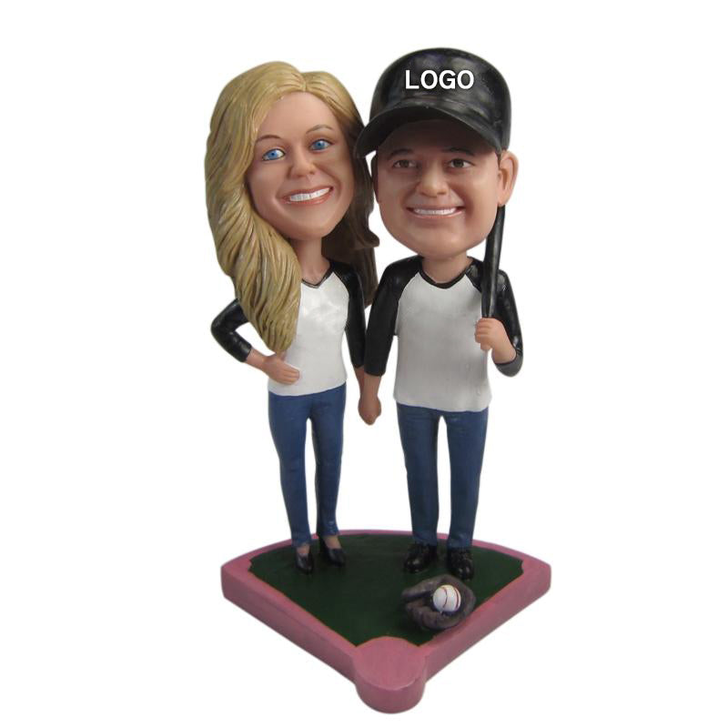 Custom Baseball Couple Bobble Head - BobbleGifts