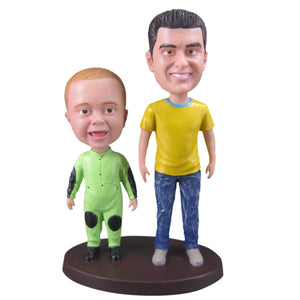 Father and Kid Bobblehead Custom