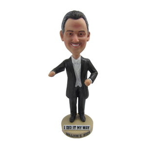 Custom Bobblehead Man in Tailcoat