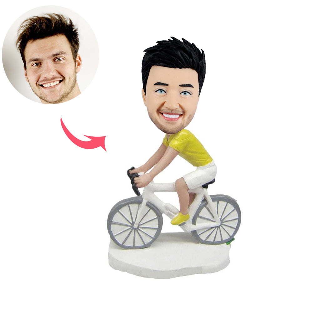 Custom Riding Bicycle Bobbleheads - BobbleGifts