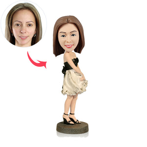Custom Party Girl Bobbleheads - BobbleGifts