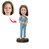 Female Nurse Custom Bobbleheads - BobbleGifts