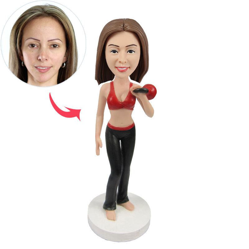 Female Fitness Instructor Custom Bobbleheads - BobbleGifts