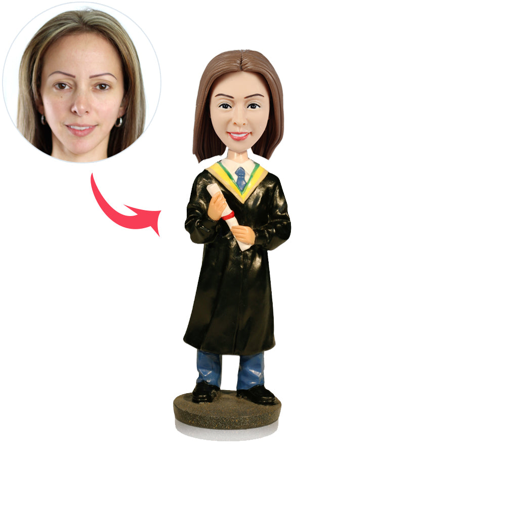 Custom Graduation Girl Bobbleheads - BobbleGifts