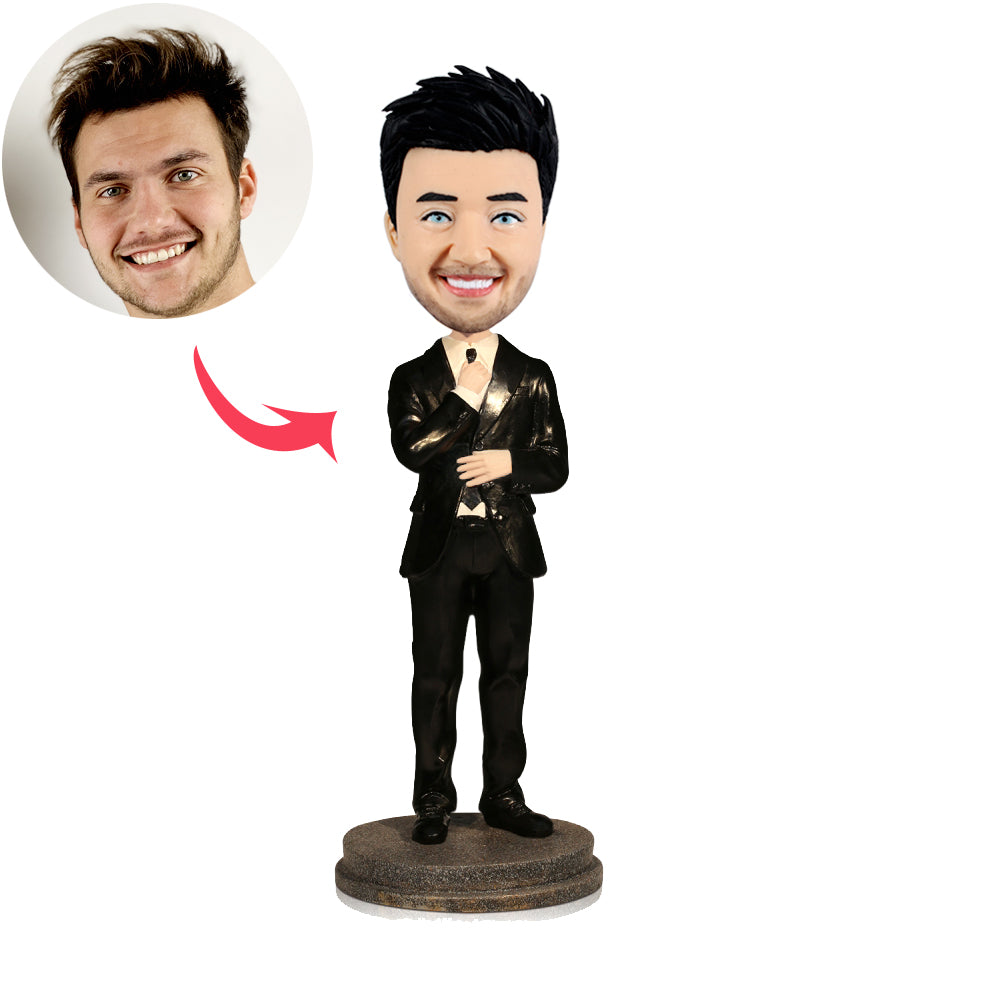 Personalized Gentlemen Custom Bobblehead - BobbleGifts